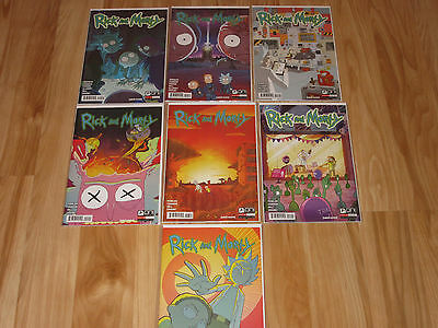 LOT OF 7 ONI PRESS RICK AND MORTY #9 - #15 Sold Out HTF FIRST PRINTS Rare