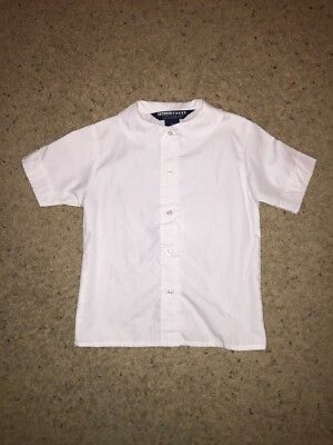 Girls French Toast White Button Front School Uniform Short Sleeve Shirt Size 6X