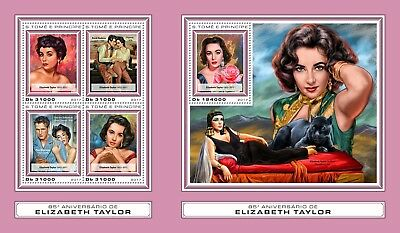 Z08 IMPERF ST17409ab Sao Tome and Principe 2017 Elizabeth Taylor MNH Mint
