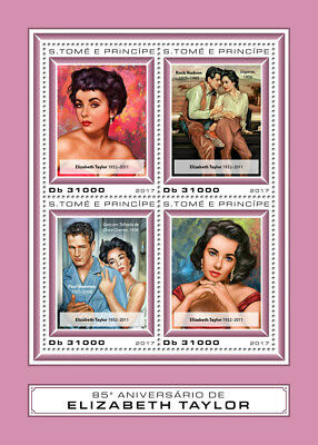 Z08 IMPERF ST17409a Sao Tome and Principe 2017 Elizabeth Taylor MNH