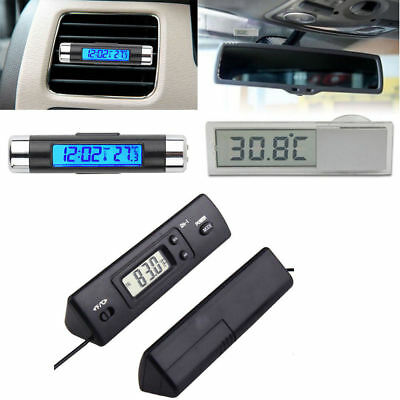 Digital LED Auto Car  Clip-on Thermometer/Sensor Temperature LCD Display