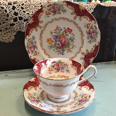 Vintage Royal Albert Trio - Canterbury - Bone China Cup, Saucer & Plate