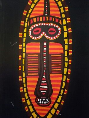 Papua New Guinea painting rare exclusive print on canvas unframed