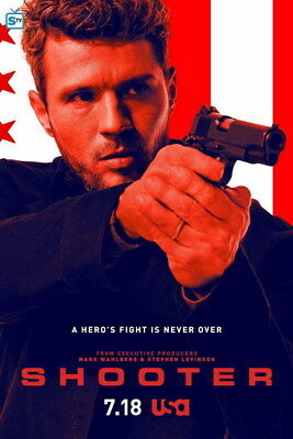 "001 Shooter - Ryan Phillippe Action Crime USA TV Show 24""x36"" Poster"