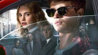 "052 Baby Driver - Ansel Elgort Car Crime Actioon UK Movie 42""x24"" Poster"