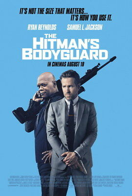 "008 THE HITMANS BODYGUARD - Ryan Reynolds Action 2017 USA Movie 24""x35"" Poster"