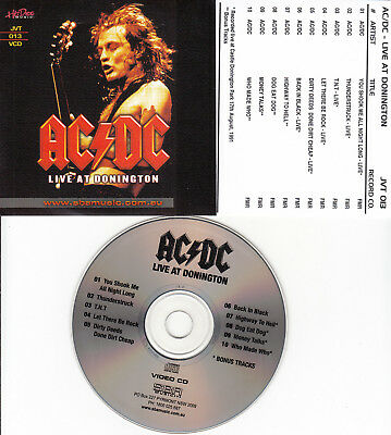 Ac/Dc Acdc Live At Donington Vcd Music Videos Video Cd