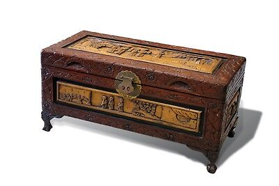 Vintage Chinese Camphor Chest Trunk Box