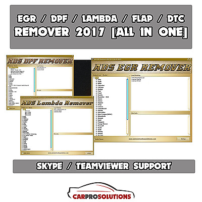 Professional DPF EGR Lambda Flap DTC Remover 2017.05 All In One Software
