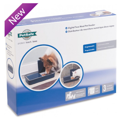 Brand NEW PetSafe Digital Two Meal Pet Feeder - Programs Pets Meals up to 96hrs