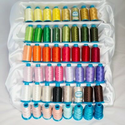 Marathon Polyester Machine Embroidery Threads 1000m x 48 Colours Pack