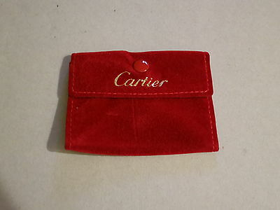 Genuine Cartier Rings Necklaces Pendants Earrings Pins Jewelry Pocket Pouch