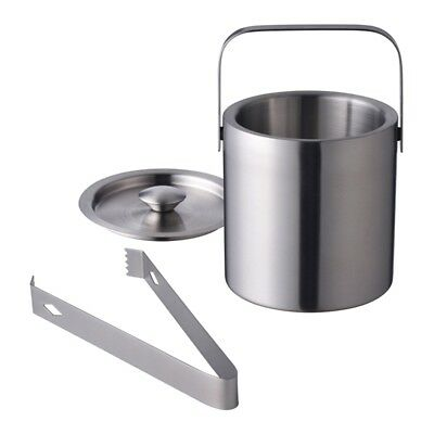 Wine Bottle Cooler Champagne Party 6-Inch Stainless Steel Ice Bucket With Tongs