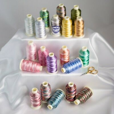 Marathon Variegated Rayon Machine Embroidery Threads 1000m