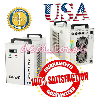 Industrial Water Chiller CW-5200DG CW-5200AG for 130W / 150W CO2 Laser Tube