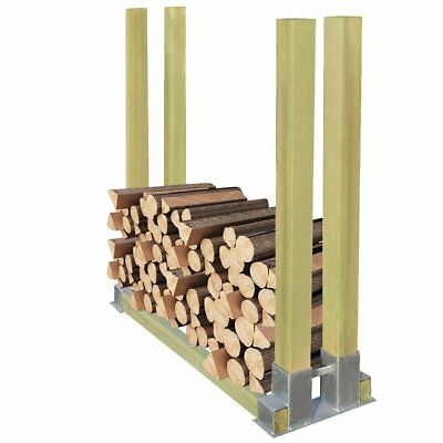 Firewood Wood Log Stacking Aid Storage Rack Shelf Stand with Support Posts