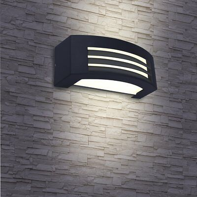SMARTWARES Up and Down LED Wall Light Lamp In/Outdoor 5 W Anthracite GWL-002-HS