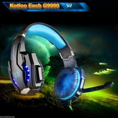 Gaming Headset MIC LED Headphones 3.5mm Surround for PS4 Xbox One PC Mac Laptop