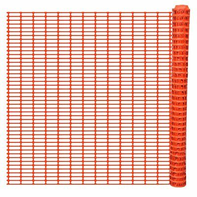 New Safety Fence Field Barrier Fence Snow Fence Fencing Trellis Orange 50 m