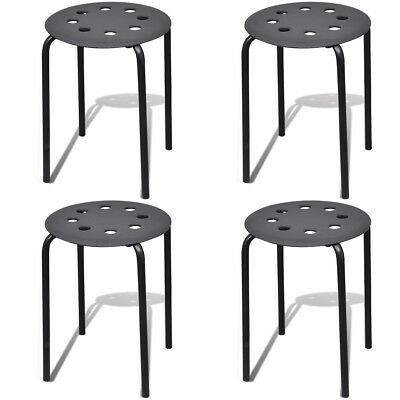 New Four-leg Stool Round Stackable 4 pcs Sturdy Durable Sitting Stool Kitchen
