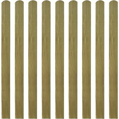 10 pcs Impregnated Pinewood Wooden Fence Slat Panel 120 cm Garden Patio Fencing