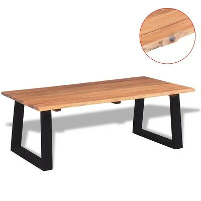 vidaXL Solid Acacia Wood Coffee Table 110x60x40 cm Home Furniture Live Edge