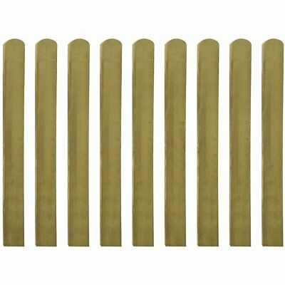 10 pcs Impregnated Pinewood Wooden Fence Slat Panel 100 cm Garden Patio Fencing