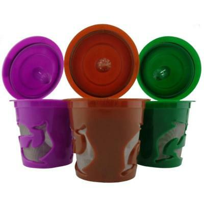AU Brown Refillable Coffee Capsules Pod K-cups For Nescafe Dolce Gusto Reusable