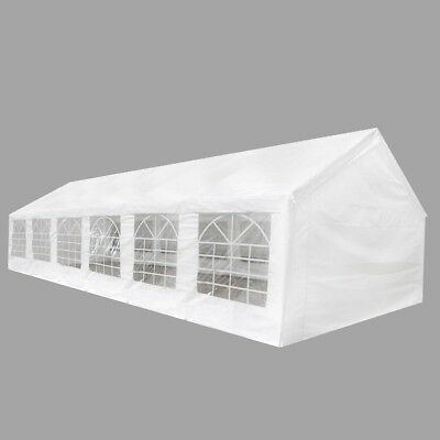 New White Party Tent 12 x 6 m 100% PE Material Steel UV-protective Waterproof