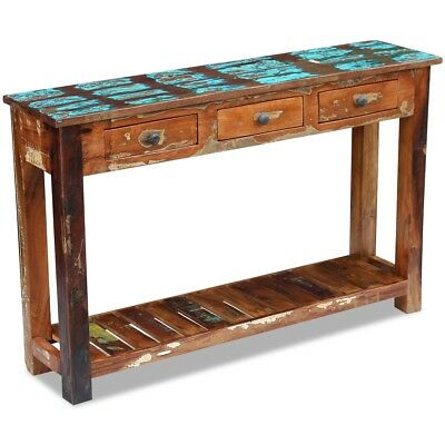 vidaXL Console Table Cabinet Sideboard Home Solid Reclaimed Wood 120x30x76 cm