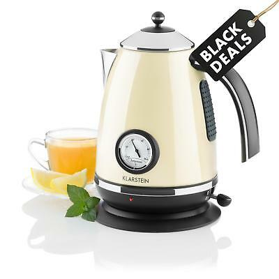 Classic Cream Modern Tea  Kettle 1.7 L 2200 W Electric Cordless Fast Boil Jug
