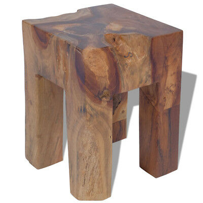 vidaXL Stool Seat/Footrest/Side Table Furniture Home Solid Teak 30x30x40 cm