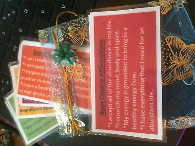 Chakra Affirmation Cards ~Positive words~Pretty Gift Bag