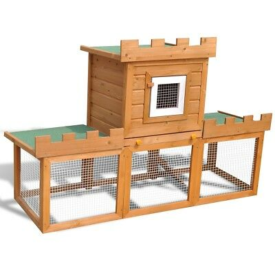 New Outdoor Large Deluxe Small Animal Rabbit Hutch House Pet Cage Single House