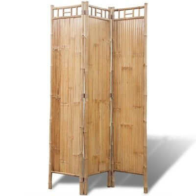 3-Panel Bamboo Room Divider Screen Paravent Foldable Partition Privacy Wall