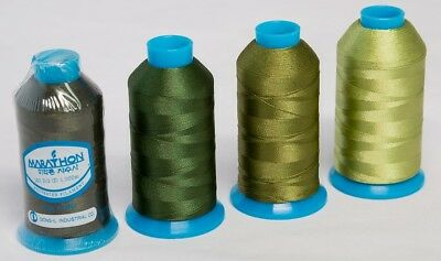 Marathon Polyester Embroidery machine thread: Shade Pack  Khaki Green 4 x 1,000m