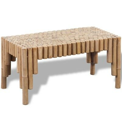 Bamboo Coffee Tea Cup Drink Table Stand End Coaster Living Room Furniture Sturdy