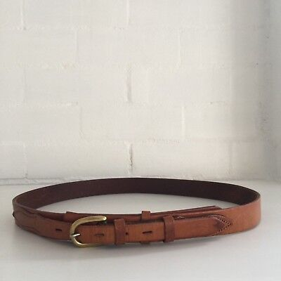 COWBOY Belt Genuine LEATHER Size 36 Country UNISEX Tan