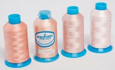 Marathon Polyester Embroidery machine thread Shade Pack -  Dusty Pink 4 x 1,000m