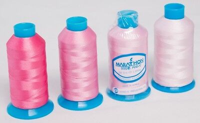 Marathon Polyester Embroidery machine thread:  Shade Pack -  Pinks 4 x 1,000m
