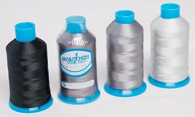 Marathon Polyester Embroidery machine thread: Shade Pack - Greys  4 x 1,000m