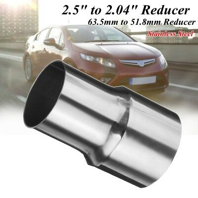 2.5'' to 2'' Stainless Steel Flared Exhaust Reducer Connector Adapter Pipe Tube