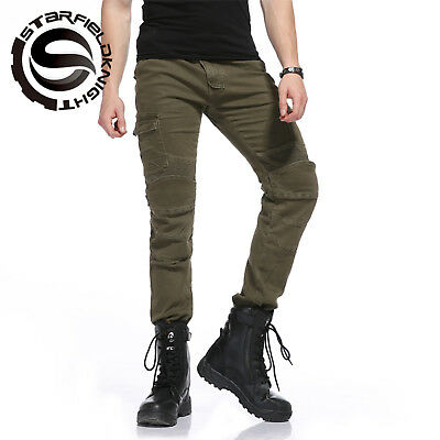 Men's motorbike Motorcycle Skinny Slim Fit Denim Jeans With CE Protective Lining