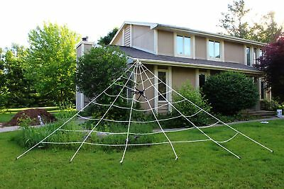 Spooktacular Creations 23X18ft Triangular Mega Spider Web for Outdoor Halloween