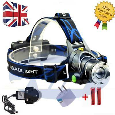 T6 LED Headlight Headlamp 12000LM XM-L Torch Outdoor Sport Rechargeable 18650 #w