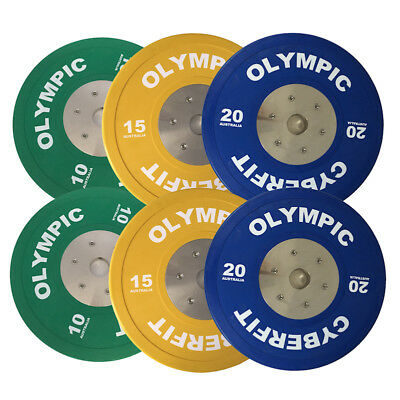 Olympic Weight Plates Set 90kg ELITE Bumpers