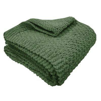 Overseas Blanket Throw Sofa Sette Bedspread Cover Knitted 130x150 cm Olive
