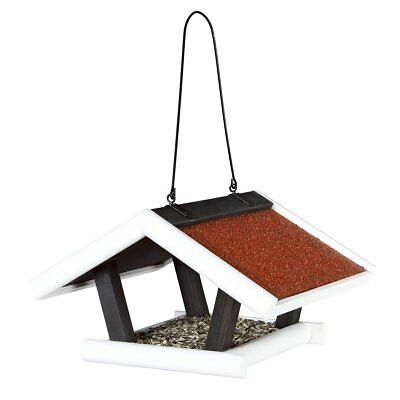TRIXIE Hanging Bird Feeder Roof Platform 30x18x28cm Black and White Natura 55804