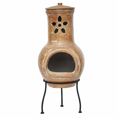RedFire Fireplace Heater Warmer Stove Outdoor Garden Cancun Clay Copper 86032
