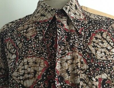 Vintage 60's / 70's JC Penney Patterned Shirt XL